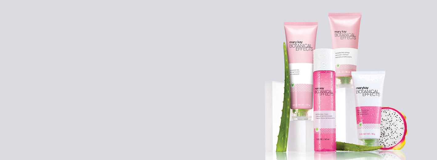 Botanical Effects® Skin Care is shown with key botanical ingredients.