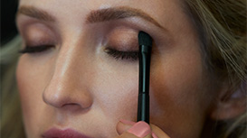 Mary Kay Chromafusion Eye Shadow being applied to model's eyelid