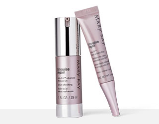 Close up of TimeWise Repair® Volu-Firm® Advanced Lifting Serum and TimeWise Repair® Volu-Fill® Deep Wrinkle Filler.